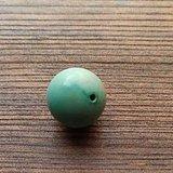 原矿绿松石直径18mm圆珠