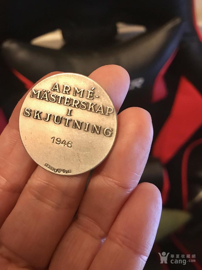 瑞典  1946年 锦标赛 银质 奖章 。不议价!图2