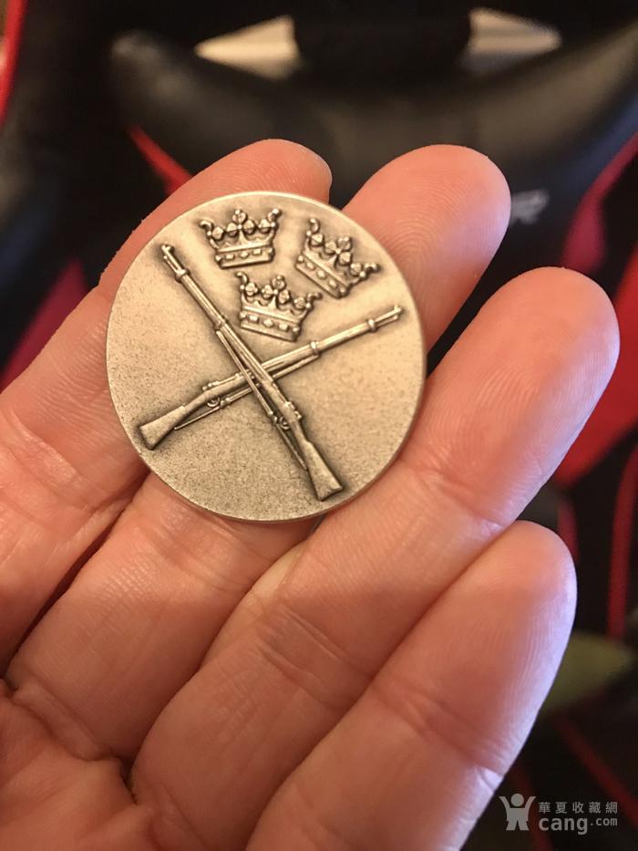 瑞典  1946年 锦标赛 银质 奖章 。不议价!图1