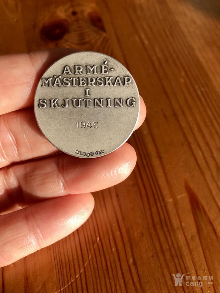 瑞典  1946年 锦标赛 银质 奖章 。不议价!图4