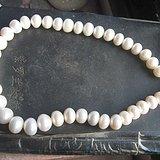 天然白珍珠大粒径项链