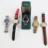 欧洲回流特价:五只欧洲日本产石英男式手表 走时精准