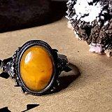 德国回流十九世天然波罗的海老蜜蜡手工打造银戒指