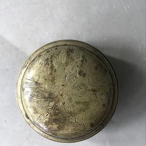 精品黄铜人物墨盒