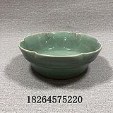 老瓷器龙泉窑青瓷花口盘*瓷器元代明代龙泉瓷古代瓷器古董老货