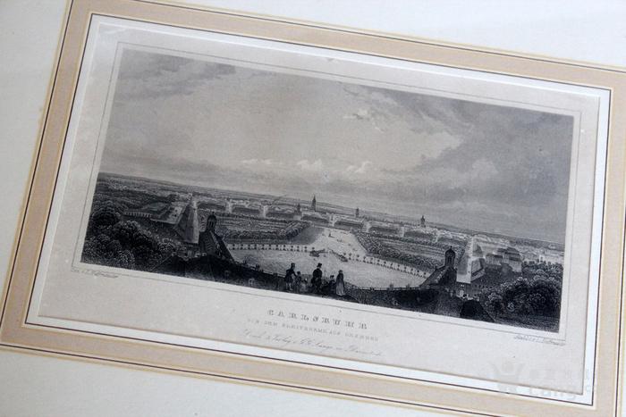 19世纪版画两张 德国Karlsruhe Passau图2