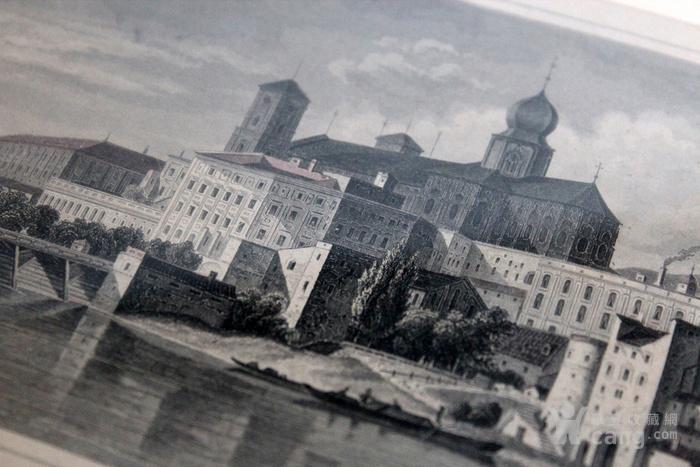 19世纪版画两张 德国Karlsruhe Passau图5