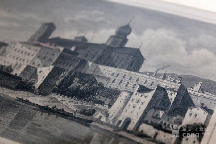 19世纪版画两张 德国Karlsruhe Passau图6