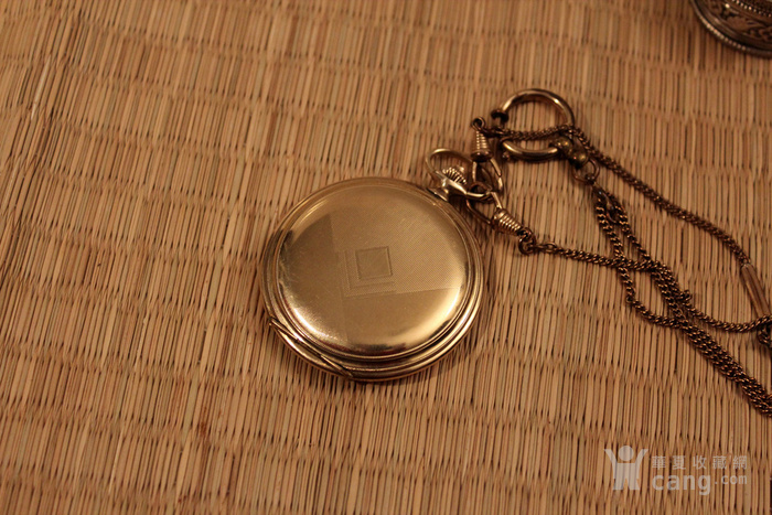 瑞士Favor彩金壳机械怀表 带链图9