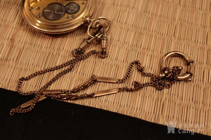 瑞士Favor彩金壳机械怀表 带链图7