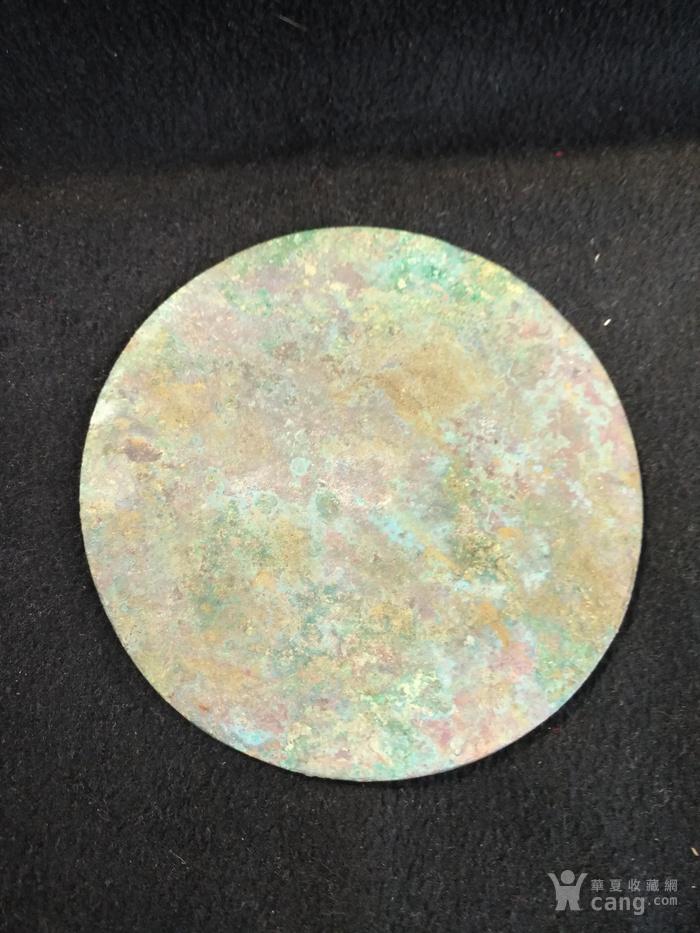 老卷云纹铜镜图2
