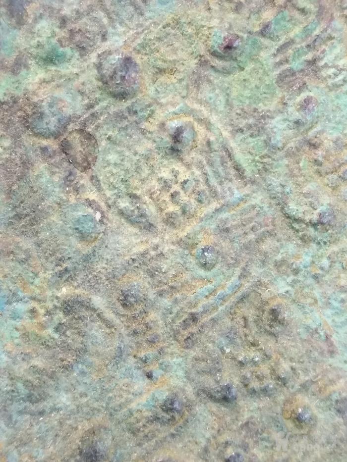 老卷云纹铜镜图4