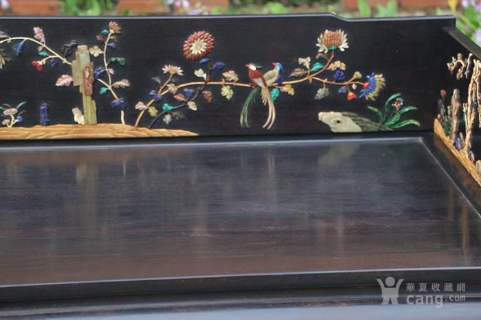 古典家具木器 小叶紫檀木镶百宝独板罗汉床 特价包邮图6