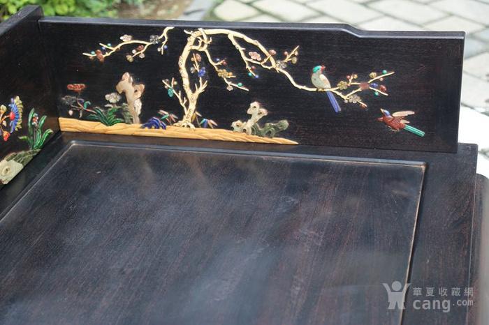 古典家具木器 小叶紫檀木镶百宝独板罗汉床 特价包邮图11