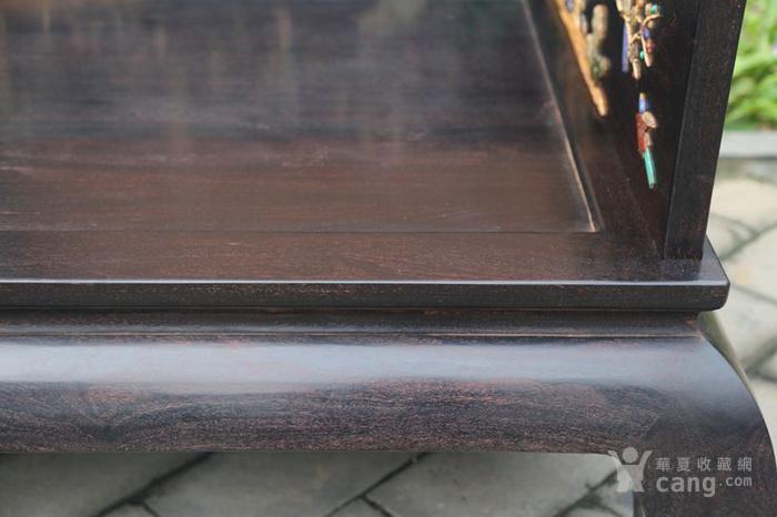 古典家具木器 小叶紫檀木镶百宝独板罗汉床 特价包邮图12