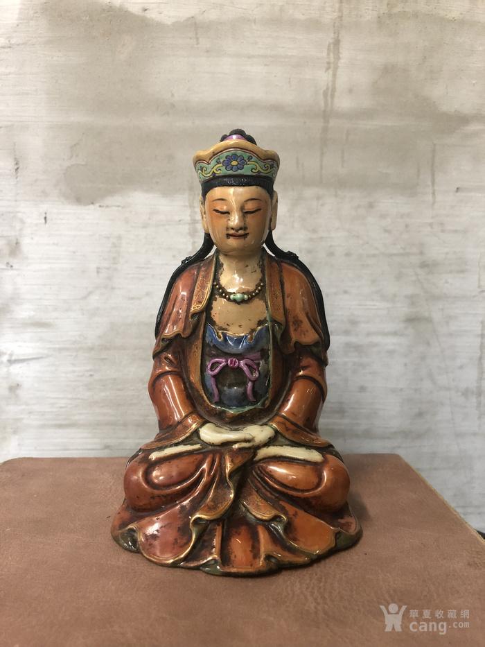 梵红粉彩雕像图1