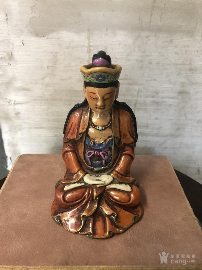 梵红粉彩雕像图6