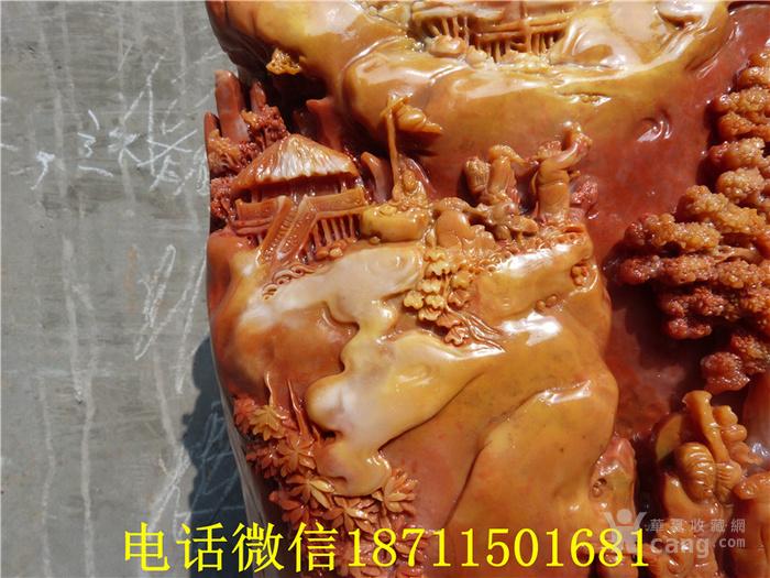 精品  寿山石雕松下雅集图摆件图6