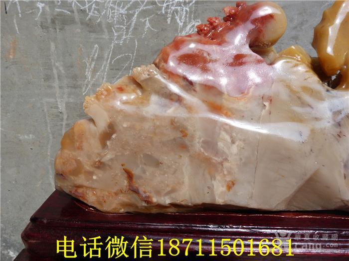 近代 寿山石雕山水人物马车摆件图11