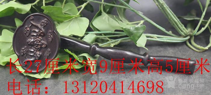 紫檀木雕福在眼前竹节如意摆件 特价包邮图1