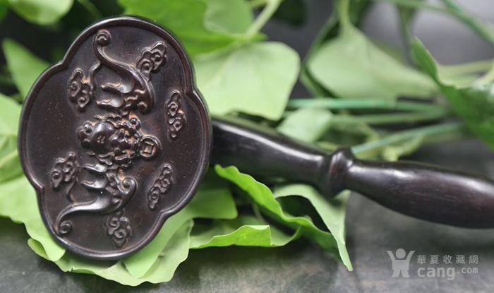 紫檀木雕福在眼前竹节如意摆件 特价包邮图6