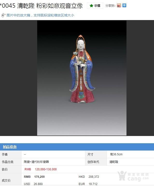 清 乾隆 精品粉彩观音菩萨立像图2