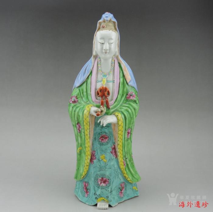 清 乾隆 精品粉彩观音菩萨立像图12