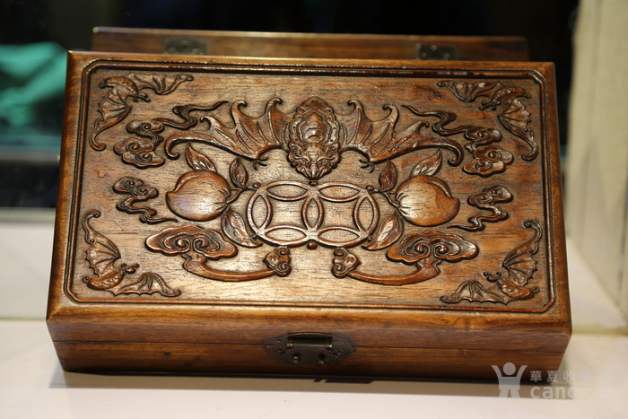 黄花梨雕福在眼前首饰盒 珠宝盒 特价包邮图2
