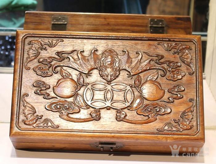 黄花梨雕福在眼前首饰盒 珠宝盒 特价包邮图4