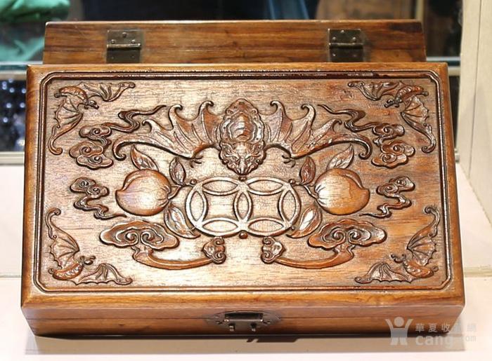 黄花梨雕福在眼前首饰盒 珠宝盒 特价包邮图5