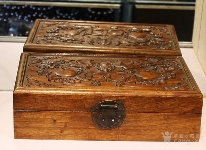 黄花梨雕福在眼前首饰盒 珠宝盒 特价包邮图6