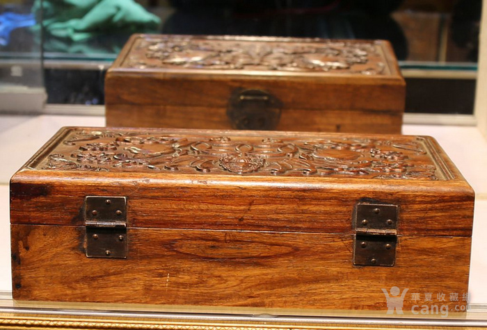 黄花梨雕福在眼前首饰盒 珠宝盒 特价包邮图12