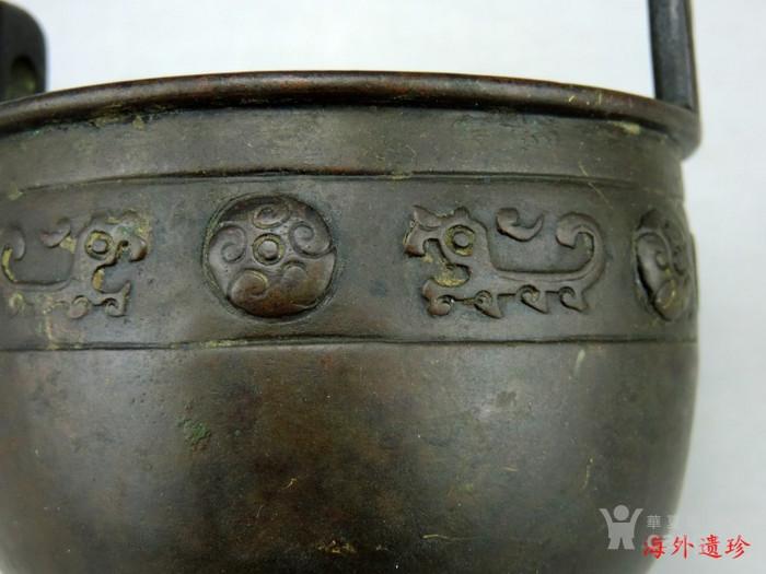清代 瑞兽纹三足鼎式宣德铜炉图7