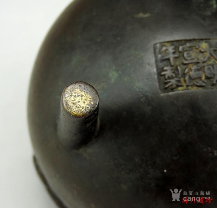 清代 瑞兽纹三足鼎式宣德铜炉图10