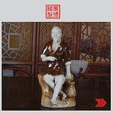 景德镇文革老厂瓷 雕塑瓷厂《渔夫》塑像