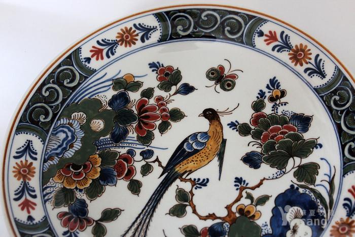 圣诞好礼 之荷兰Delft代尔夫特陶瓷彩盘 青花各一图3