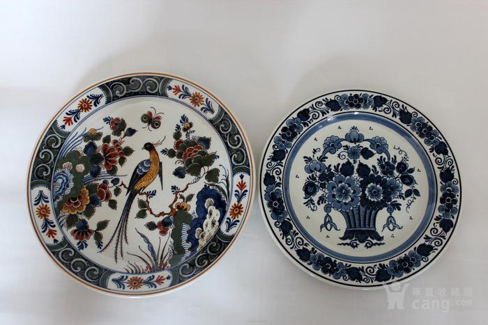 圣诞好礼 之荷兰Delft代尔夫特陶瓷彩盘 青花各一图9