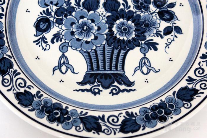 圣诞好礼 之荷兰Delft代尔夫特陶瓷彩盘 青花各一图2