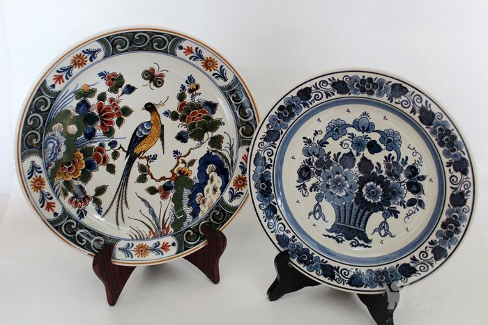 圣诞好礼 之荷兰Delft代尔夫特陶瓷彩盘 青花各一图1