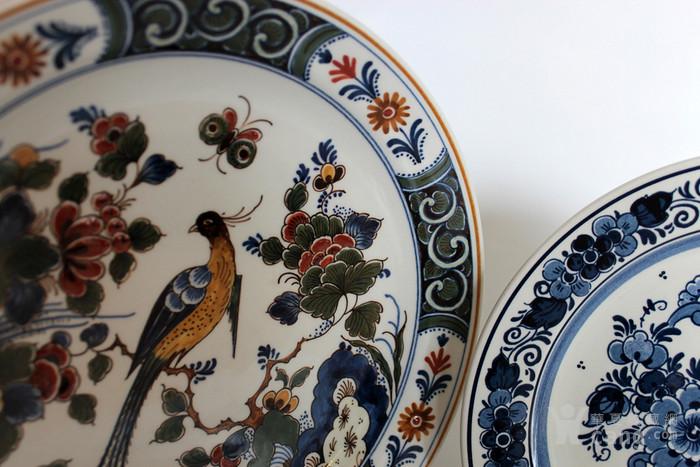 圣诞好礼 之荷兰Delft代尔夫特陶瓷彩盘 青花各一图5