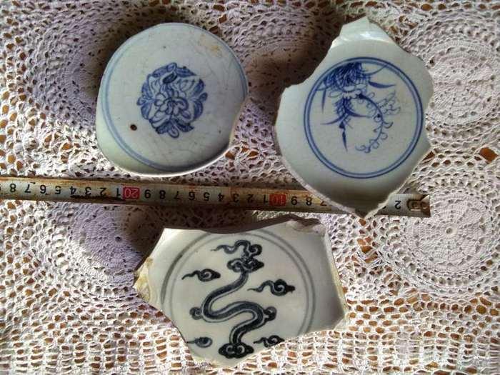 明代青花瓷片一组图2