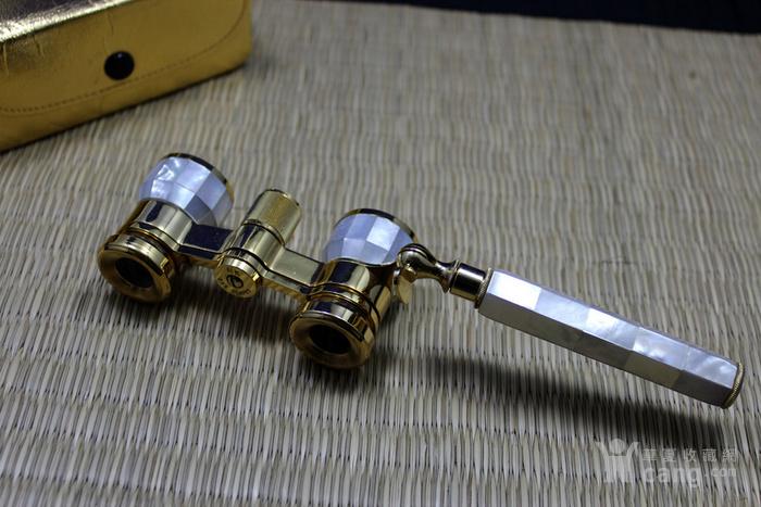手工镶嵌螺钿 蚌壳带手柄黄铜歌剧望远镜图2
