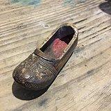 清早期 黄杨木鞋子