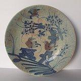 清代中晚期喜上梅梢纹青花釉里红大盘