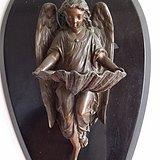 18世纪巴洛克风格西洋教堂铜雕塑 虔诚的天使 一件