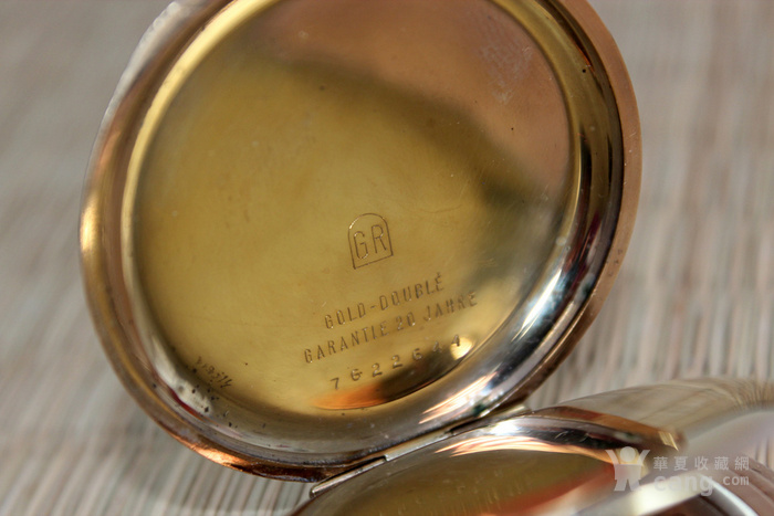 岁末精品 1920年代欧米茄omega全彩金老怀表 含链图7