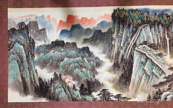 山水画 长卷画  年代:其它 款式:横幅 品相:全品 内容:山水风景 用途