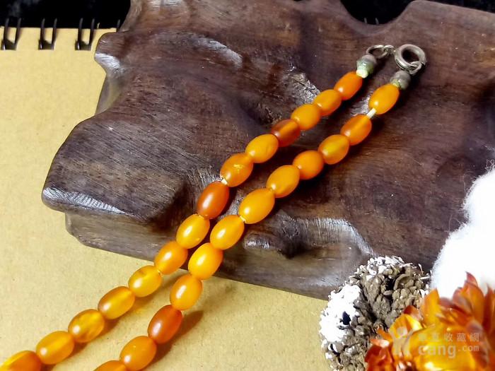 德国回流 1900年左右天然波罗的海老蜜蜡桶珠项链 新年价图3