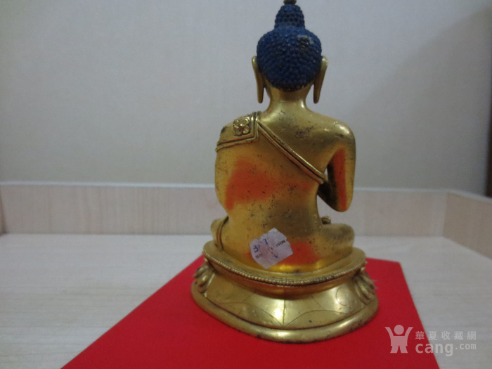 铜鎏金佛像图3