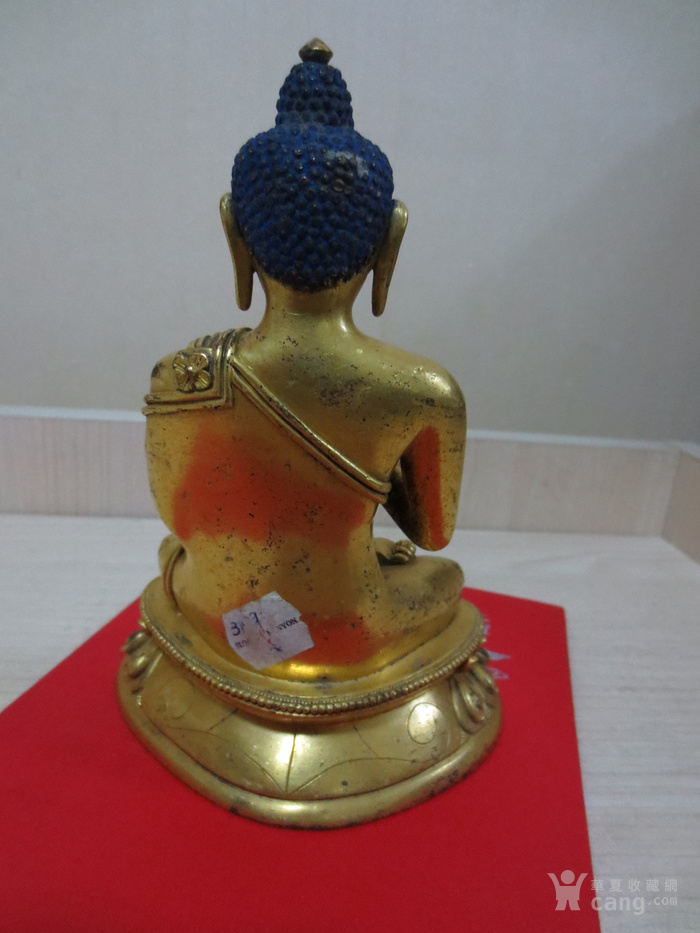 铜鎏金佛像图4